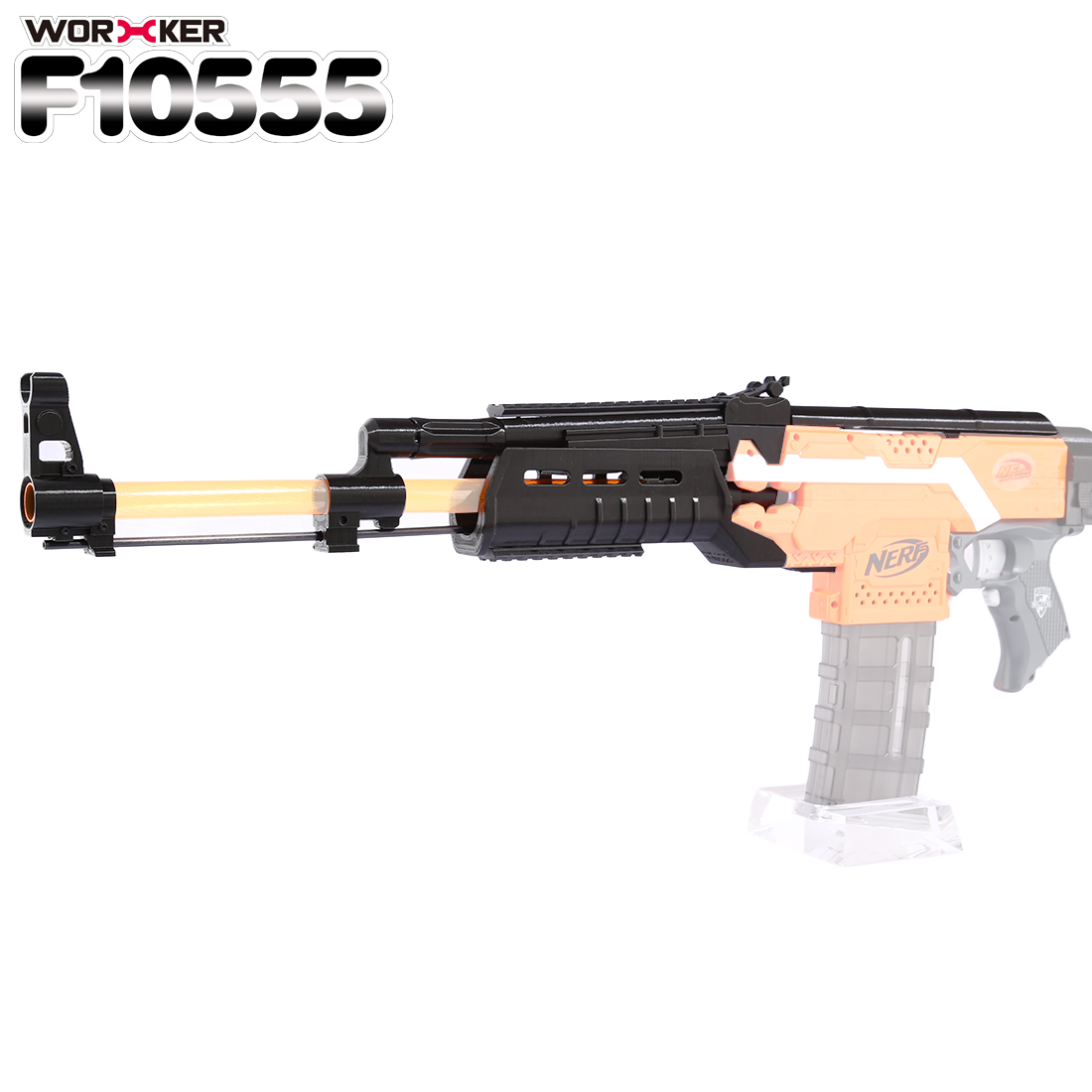 Worker f10555 3D Printing NO.105 Series Long Type Modified Kit Professional Toy Gun Accessories for Nerf Stryfe(Type D) - Black садовая детская тяпка truper atj kid 10555