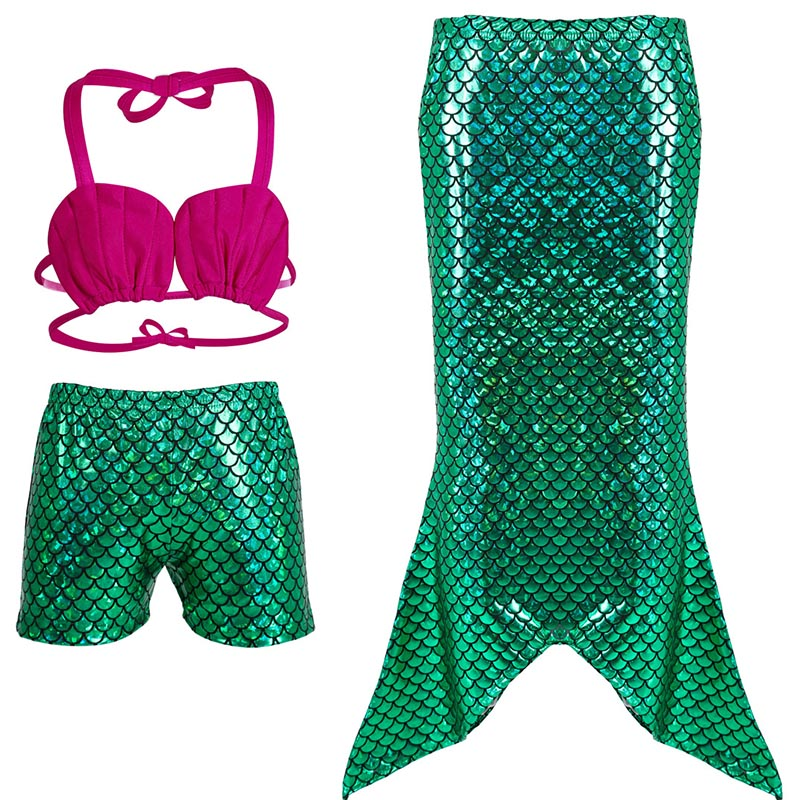 2018 Princess Ariel Kid Little Mermaid Tails Costume Ariel Baby Girls Mermaid Tail Bikini Swimsuit Children Cosplay Blue-in Girls Costumes from Novelty ...  sc 1 st  AliExpress.com & 2018 Princess Ariel Kid Little Mermaid Tails Costume Ariel Baby ...