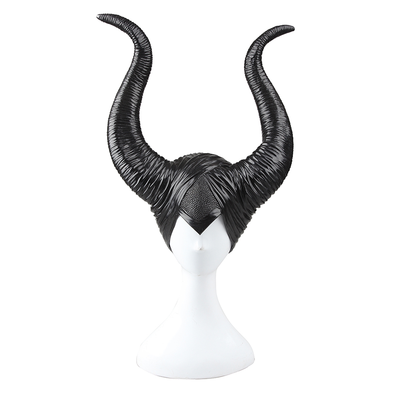 Maleficent Cosplay Costume Headpiece Black Horn Maleficent Hat Maleficent Adult Women Halloween Props for Women