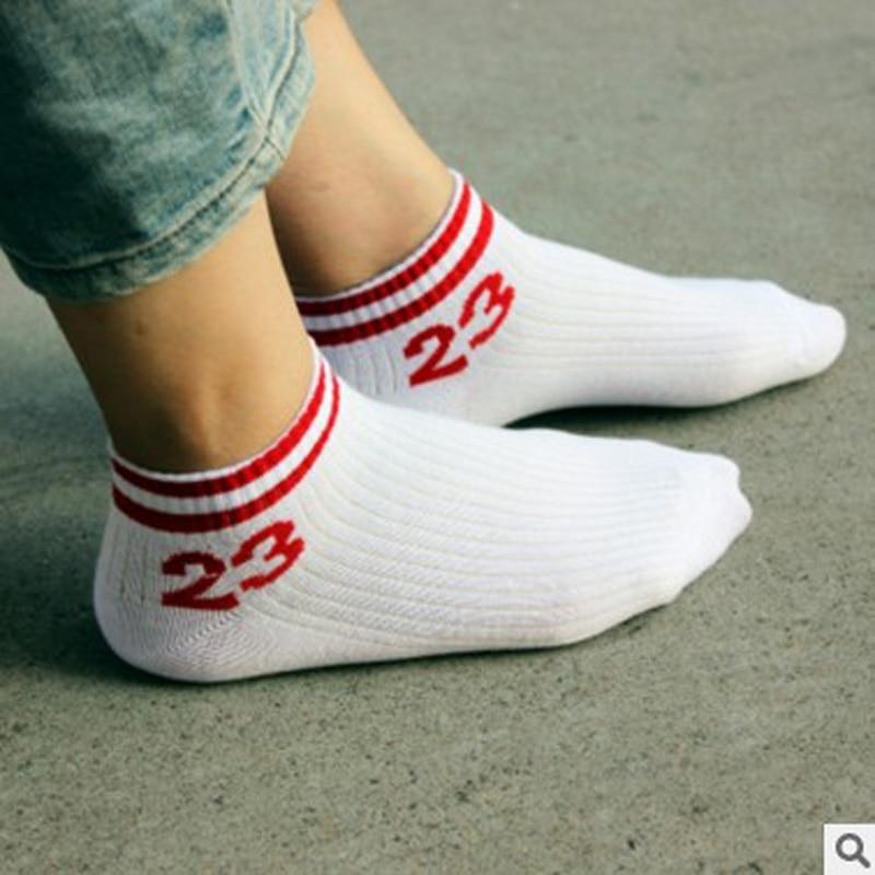NEW Original Design Men&Women Brand Letter No.23 Red Socks Cotton Foot Basket In Tube Socks Male Elite Sox White Sock