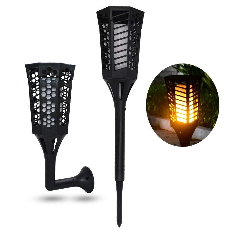 Torches de chemin de lumière solaire danse flamme éclairage 96 LED crépuscule à l'aube lampe scintillante Torches extérieur étanche décoration de jardin