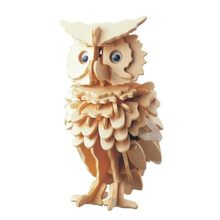 New 3D Wooden Owl Puzzle Jigsaw Woodcraft Kids Kit Toy Model DIY Construction puzzle(China)