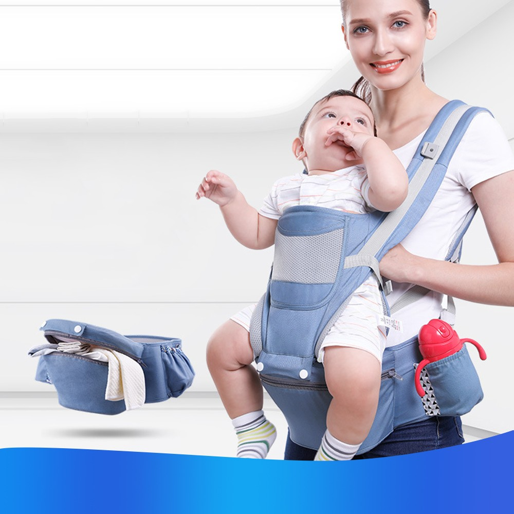 0-48M Ergonomic Baby Carrier Infant Baby Hipseat Carrier Front Facing Baby Wrap Sling For Travel 2