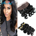 Malaysian Body Wave with Frontal Closure 4 Bundles Malaysian Virgin Hair with Frontal Closure Malaysian Body Wave Hair Bundles