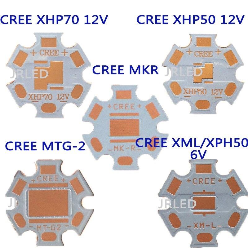20 мм Cooper pcb <font><b>CREE</b></font> MTG-2 мкр XHP50 6 В/12 В <font><b>XHP70</b></font> 5 В/12 В мкр светодиодные печатной платы 20 мм x 1.6 мм прямой Термальность путь Медь Star