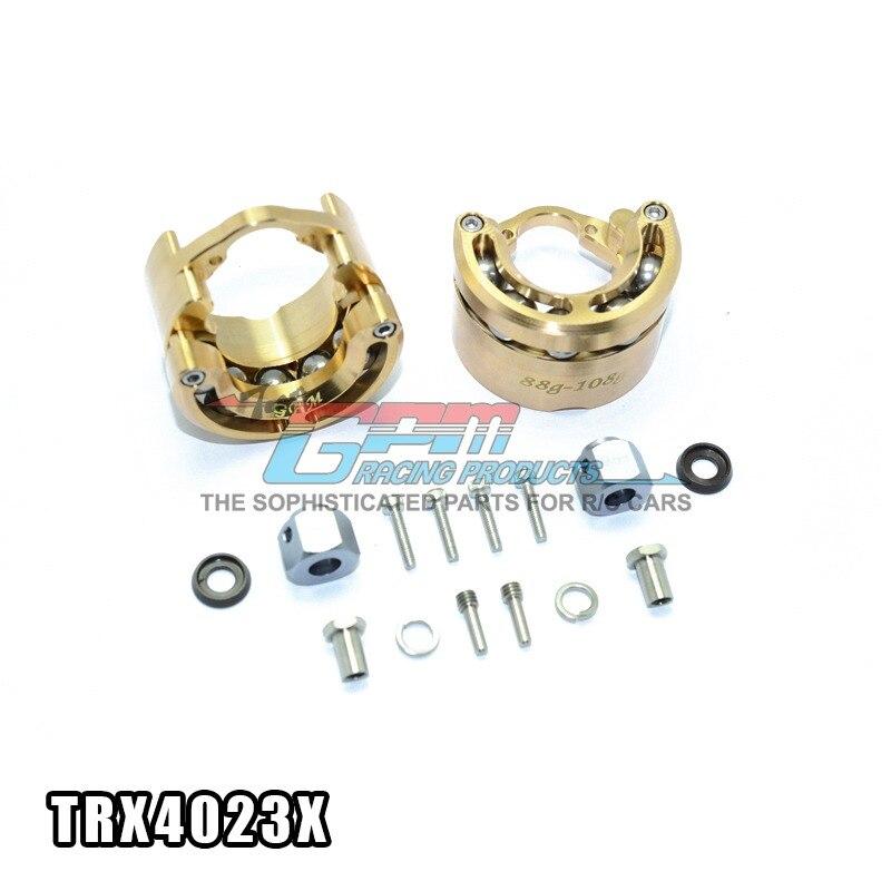 цена на Free shipping TRAXXAS TRX-4 TRX4 82056-4 Brass pendulum wheel knuckle axle weight + 9mm hex adapter - set TRX4023X