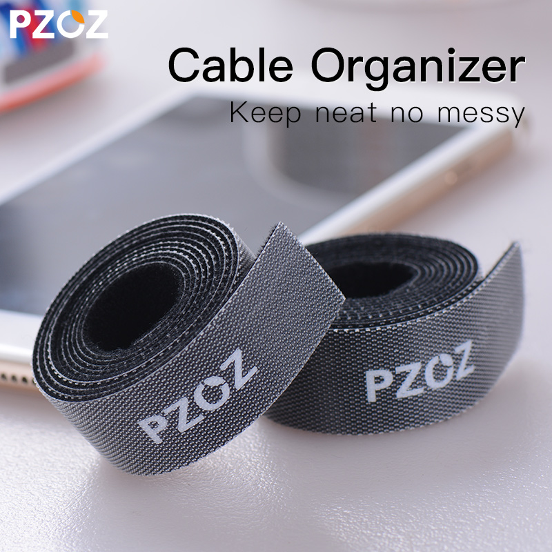 PZOZ Cable Wire Organizer nylon For iPhone Samsung Huawei Xiaomi USB Cable Wire Winder Clip Earphone Mouse Cable Cord Management аксессуар защитное стекло для huawei p20 full screen svekla blue zs svhwp20 fsblue