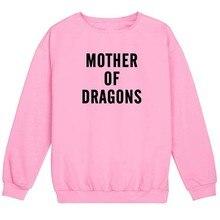 цены на Skuggnas Mother Of Dragons Sweatshirt Long Sleeve Hoodie Crewneck, Dragon Mom Jumper Pink Grey Casual Hipster Tumblr Grunge Tops  в интернет-магазинах