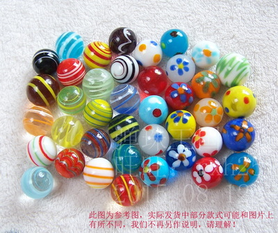 Free shipping 40pcs lot 16mm Glass marbles jump chess pieces Vase aquarium decoration ball
