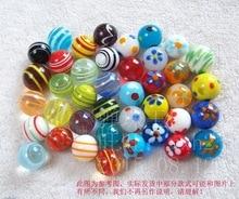จัดส่งฟรี 40 ชิ้น/ล็อต 16 มม.แก้ว marbles กระโดดหมากรุกชิ้นแจกัน Aquarium ตกแต่งบอล
