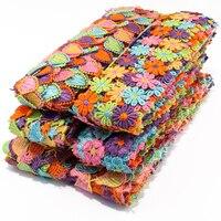 15 ярдов = 1 упаковка, плетеная кружевная лента с цветами для девочек, аксессуары для волос, трикотажная нерастягивающаяся кружевная отделка ...