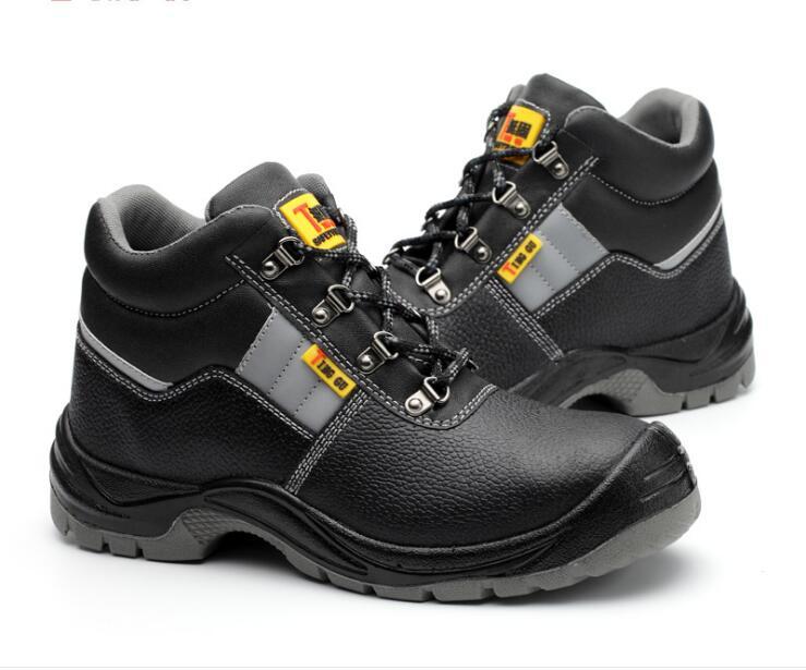 Анти-брейк, проколов, антистатический обувь, высокие кожаные, маслостойкие, кислотно-щелочной, защитная обувь, защитная обувь.