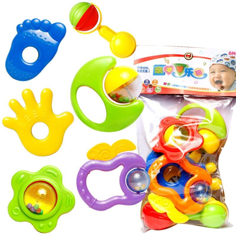 6 Stücke Schütteln Glocke Neuen Kunststoff Farbe Hand Jingle Schütteln Glocke Rassel Bildung Spielzeug Für Kinder Kinder Geschenke Die Neueste Mode
