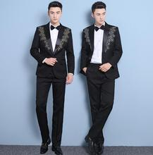 mens suits adult male mens formal dress singer stage performance ternos masculino wedding suits for men costume homme mariage