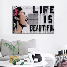 Banksy Life Is Beautiful Poster Canvas Painting Print Living Room Home Decor Modern Wall Art Oil Salon Pictures Artwork