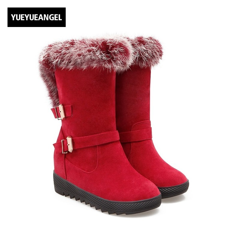 New Fashion Women Shoes Size 34-43 Fur Lining Boots Warm Plush Ladies Cute Round Toe Slip On For Women Snow Boots Free Shipping new fashion style snow boots winter fashion black brown warm fur women casual shoes on sale size 34 39