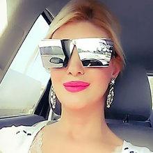 Fashion Brand Designer Sunglasses Men Women Mirror Sun glasses Lady Flat parallel Oversized size 2017 New