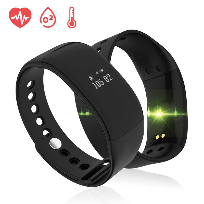 V66 Waterproof Fitness Tracker Pedometer IP67 Sport Gym Step Counter Heart Rate Monitor Health Wrist Watch For Android IOS