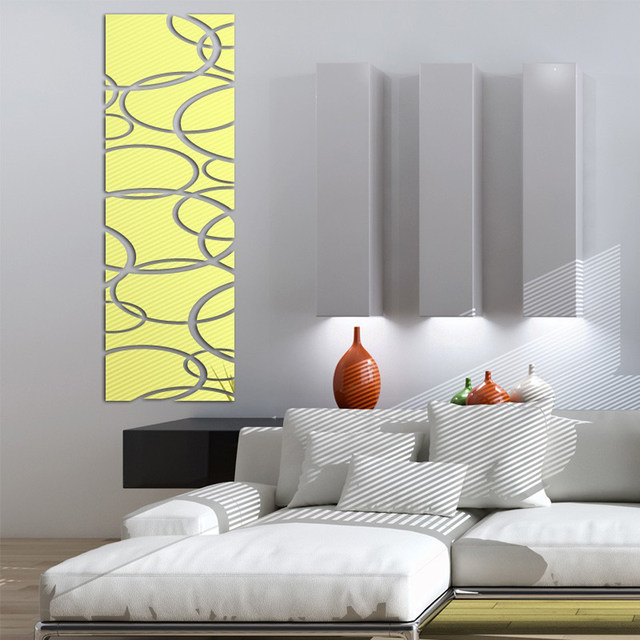Acrylic Mirror Wall Decor Art 3D DIY Stickers Living Room Dining Bedroom Decals Home Decoration