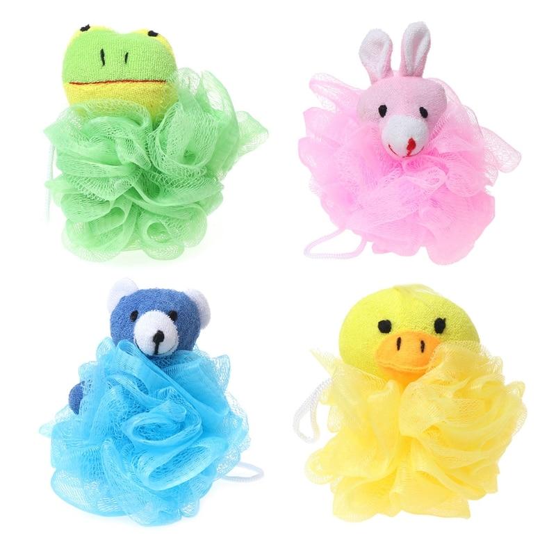 Top Quality Baby Bathing Puff Brush Cartoon Ball Scrubber Bathtubs Shower Sponge Rich Bubble