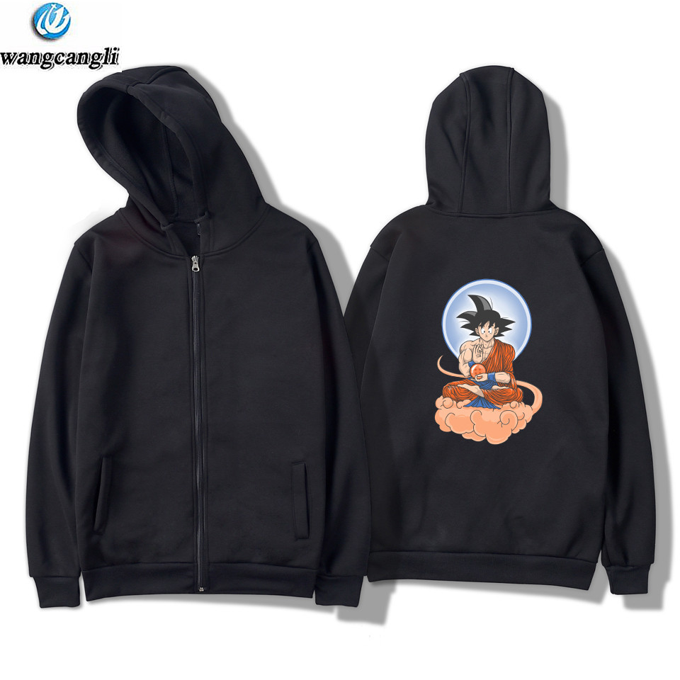 New Arrival Anime Dragon Ball Z Goku Zip Up Hoodies Men 2018 Spring Autumn Men Jacekt Sweatshirt Fashion Slim Fit Coat For Fans ...