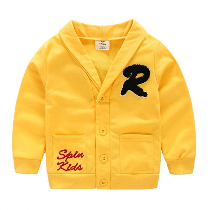 2018 Herbst Frühling Korea 3 4-8 10 Jahre Weihnachten Geschenk Wenig Kinder Baby Kinder V-ausschnitt Tasche Strickjacke Jacke Für Jungen Warm Und Winddicht