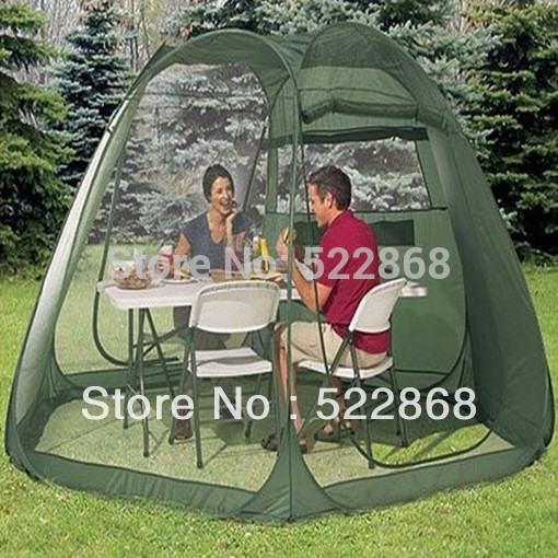 high quality 5-10person instant automatic beach tent big gauze sun-shade otomatik çadır