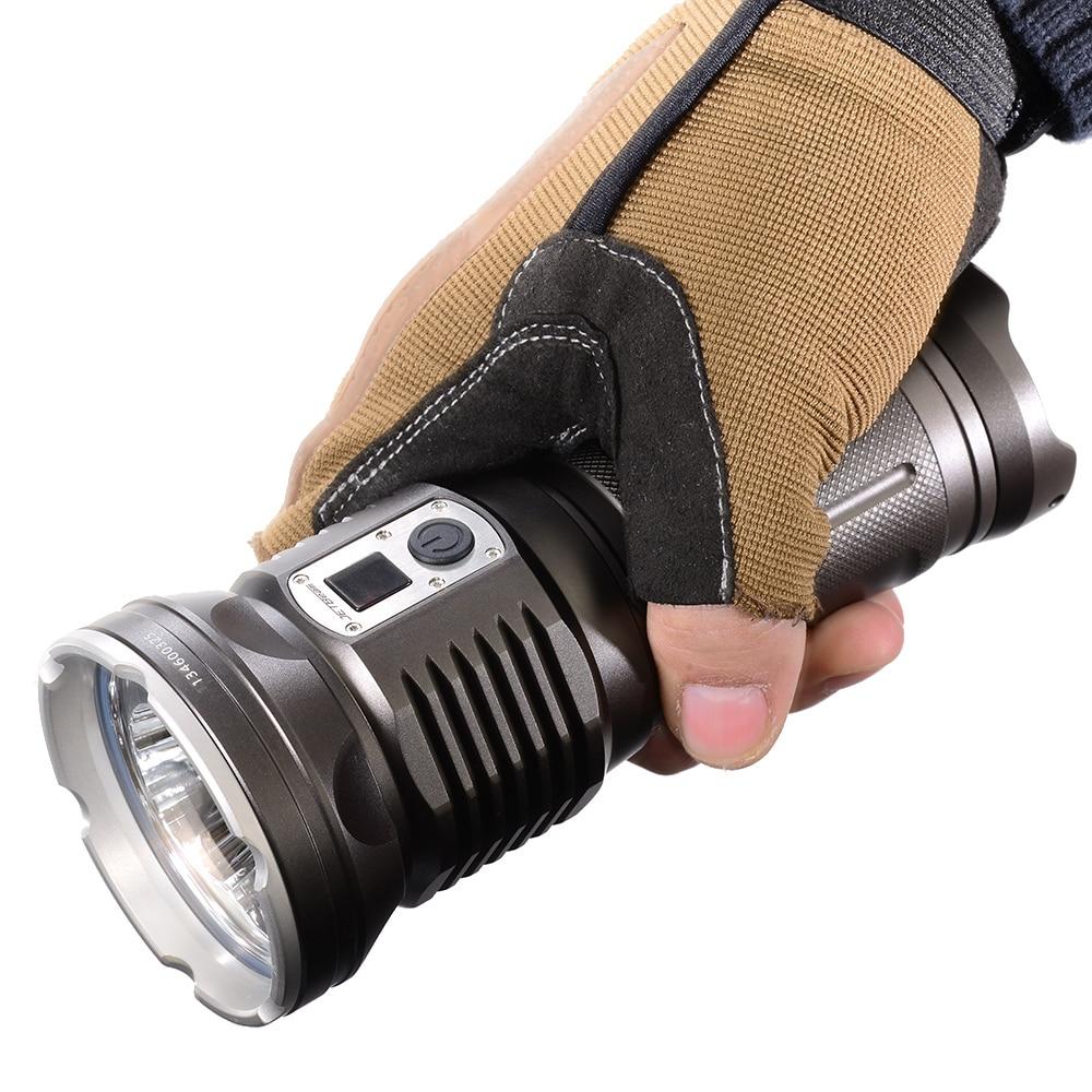 High lumen rechargeable torch JETBeam DDR30-GT grey black Cree <font><b>XHP70</b></font> max. 3680LM beam distance 440 meters waterproof flashlight