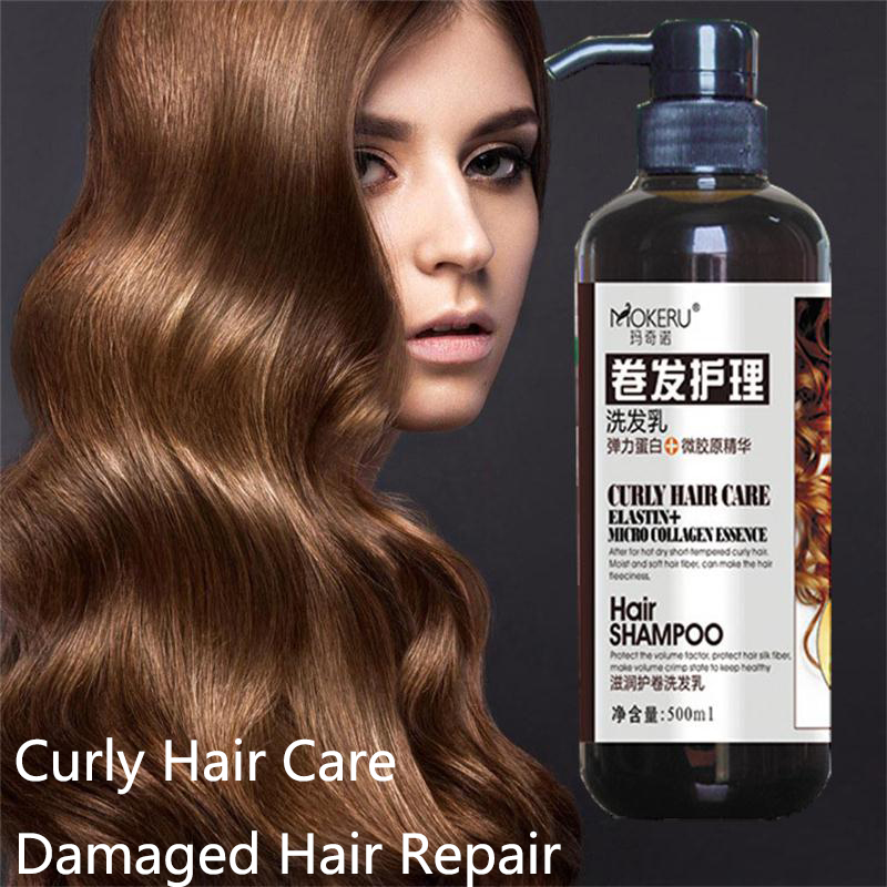 Mokeru 1pc Unisex Natural Dry Curly Hair Care Treatment Collagen Nourishing Damage Repairing Shampoo For Women image