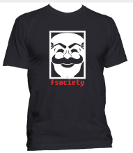 Fashion Mr Robot Fsociety T-Shirt Computer Hacking Men O Neck Cotton T Shirt Symbol Hacker Anonymous Virus TV Series  Free