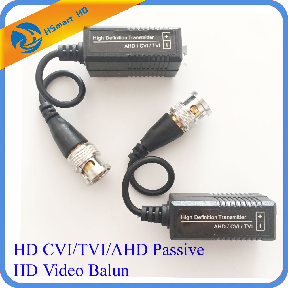 1 Pair CCTV Adaptor Connector UTP HD CVI/TVI/AHD Passive Video Balun For 1080P AHD IR Camera DVR Systems