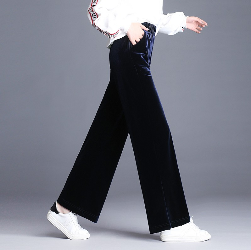 Women   Wide     Leg     Pants   2018 Spring Straight   pants   Long trouser