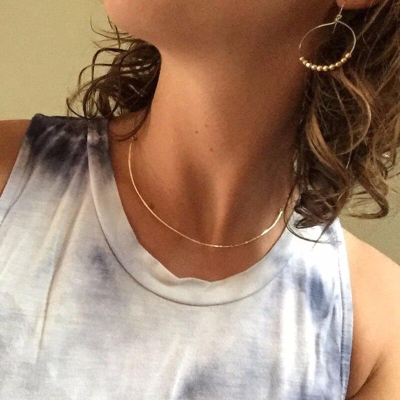 Collier ras du cou de barre bijoux faits à la main 925 argent or rempli pendentifs personnalisé Collier Femme Kolye Collares bijoux Collier