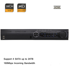 Original English DS-7716NI-E4 Hik 16 Channel HD 1080P 160Mbps 6MP 2 Gigabit Network Video Recorder NVR