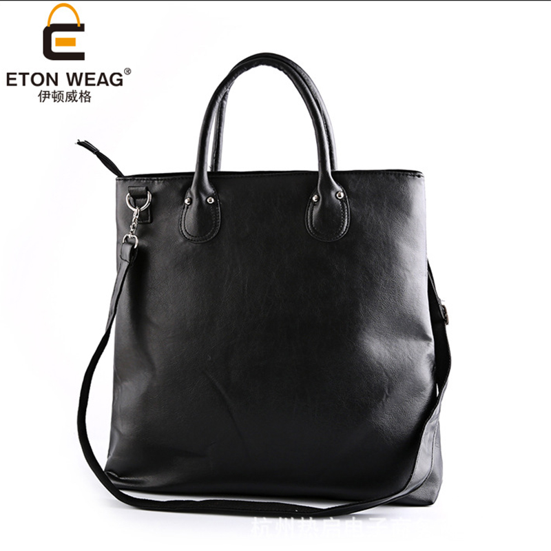 ETONWEAG Cow Leather Ladies Hand Bags Handbags Women Famous Brands Black Vintage Shopping Bag Big Capacity Woman Laptop Tote Bag fashion patchwork trapeze bags handbags women famous brands women crossbody bag smile face ladies hand bags new big capacity sac
