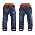 3-7Yrs Kids Trousers New 2016 Brand Baby Boys Jeans Pants Winter Fashion Style Casual Children Clothing Autumn Winter Warm