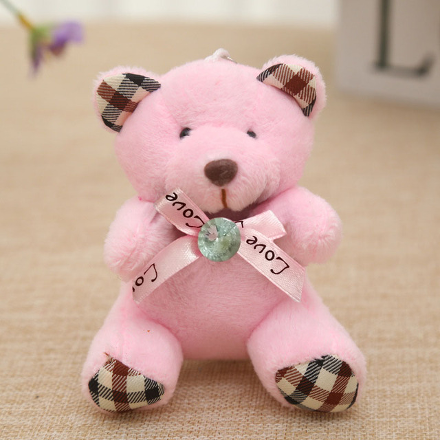 9CM Popobe Teddy Bear Cute Plush Toys Bag Keychain Car Key Holder for Pendant Doll Kids Toys Stuffed Animals Fluffy Bear B0903 Uncategorized Decoration Stuffed & Plush Toys Toys