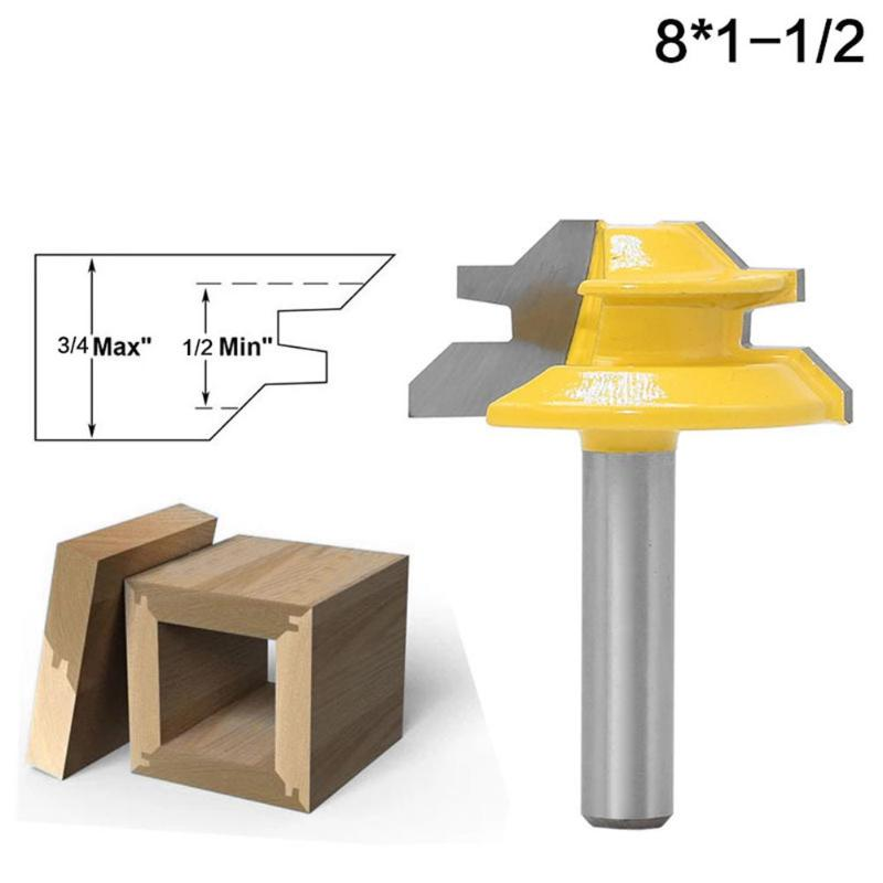 Carbide 45 Degree Tenon Knife Blade Carbide Router Drill Bit Woodworking Milling Cutter for Woodworking Drawer Doors,52*38*8mm 1x cb09 graphtec blade holder 1x60 degree 2x45 degree 2x30 blades for vinyl plotter cutter 19mm