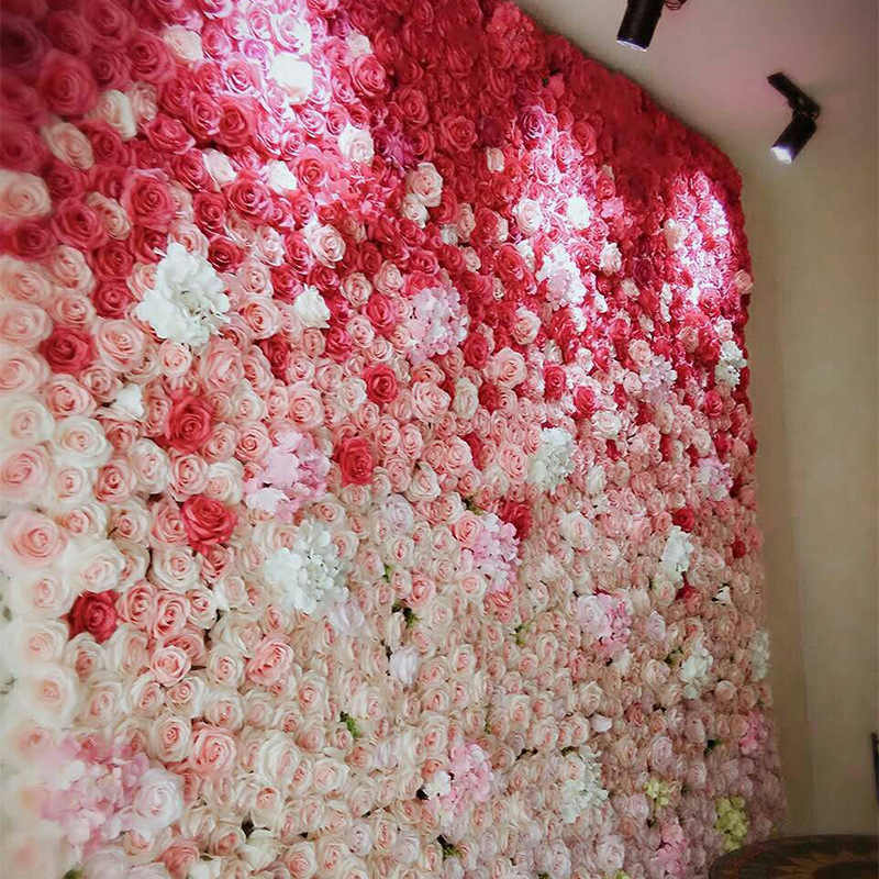 40x60cm Silk Rose Flower Artificial Flower for Wedding Decoration Flower Wall Romantic Wedding Backdrop Decor