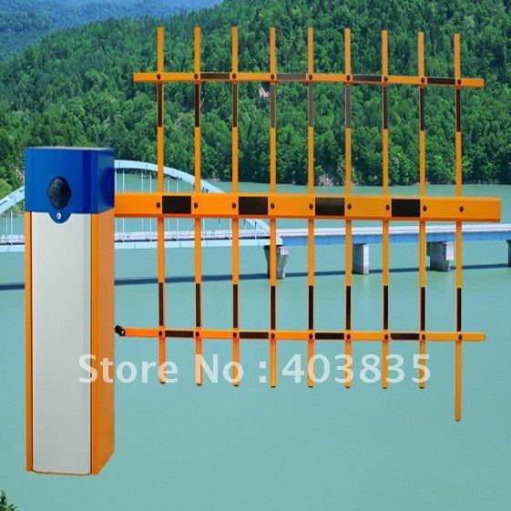Electric arm barrier gate for parking lot and toll station  High quality machinery high quality machinery barrier gate for car parking and highway toll system the best quality of the barrier gate machine