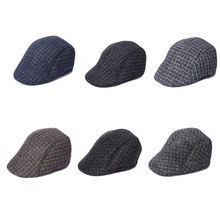 f40fd666fc258 Men Newsboy Ivy Hat Cotton Gatsby Golf Beret Driving Flat Cap winter hat  Classic Herringbone Tweed Flat Cap