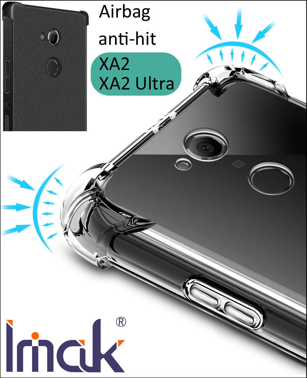 IMAK Airbag Cas Pour Sony Xperia XA2 Ultra Baisse résistance anti frappé Choc Tpu Silicone Couverture