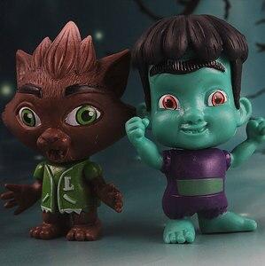 Image 5 - 6 יח\סט מפלצת דמויות צעצוע סופר בובת PVC אנימה פעולה איור דגם בובת צעצועי מתנה