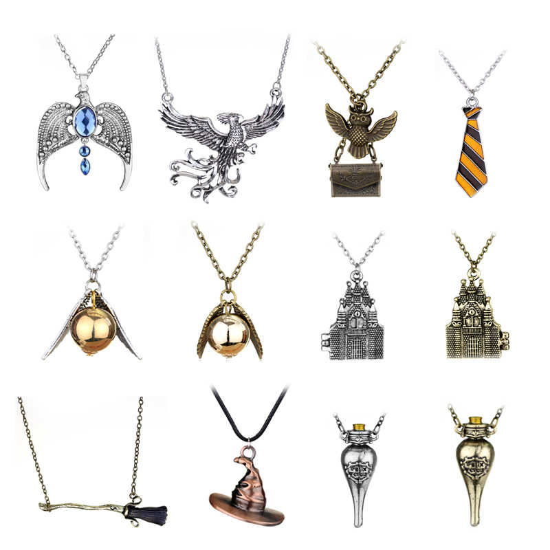 Vintage Fashion Harry P Lost Diadem of Ravenclaw Lord Voldemort's Horcrux Pendants Necklace Cosplay Costume Dropshipping