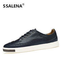 Male Casual Shoes Soft Footwear Classic Flats Men Genuine Leather Shoes Good Quality Working Shoes Size 38-44 AA30059