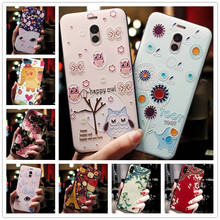 For Oneplus 7 Case 3D Flower Silicone Emboss Phone Cover For