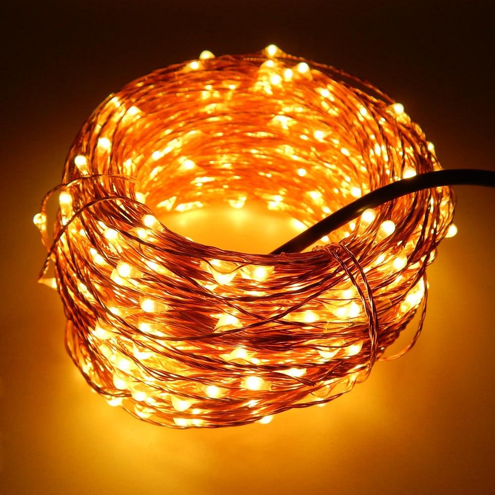 ФОТО 8pcs/lot 50m 500 Leds Copper Wire Warm White LED String Light Starry Lights+Power Adapter(UK,US,EU,AU Plug),Free shipping by DHL