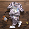 2016  Winter  new Korean version of the children's cartoon cotton o-neck boy girl two-piece suit  wnxx&by