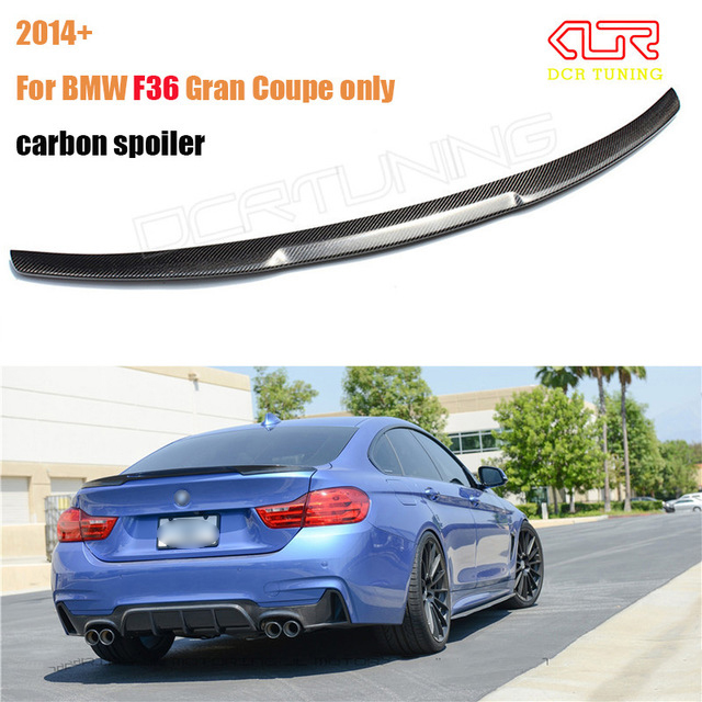 for bmw f36 carbon rear spoiler m4 style 4 series 4 door. Black Bedroom Furniture Sets. Home Design Ideas