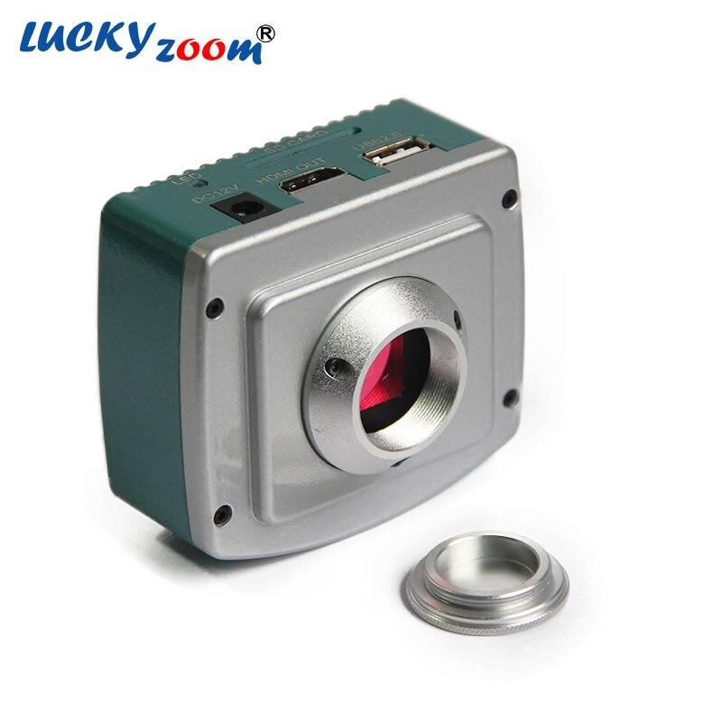 Glück Zoom Marke CE ISO 1080 P 60 Fps HDMI Mikroskop Kamera/industriekamera W/USB, Sd-karte Storage & Maus Aktion Kamera